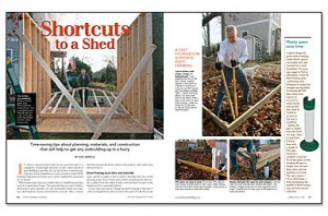 shed footing article