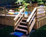 Pool deck footings